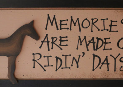 Memories are made on ridin' days